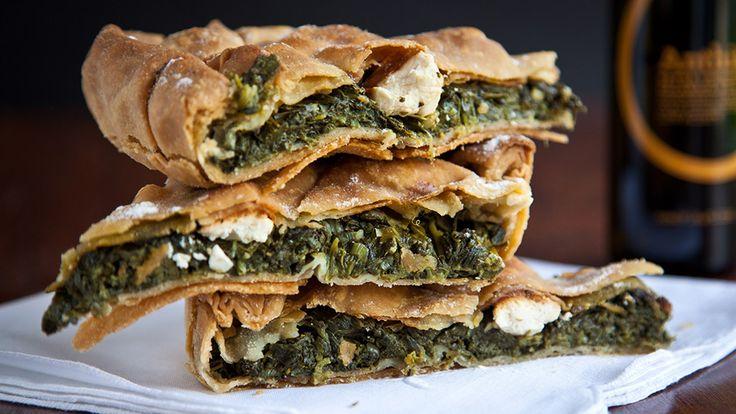 Pelasgaea   Spinach Pie With Homemade Phyllo Dough