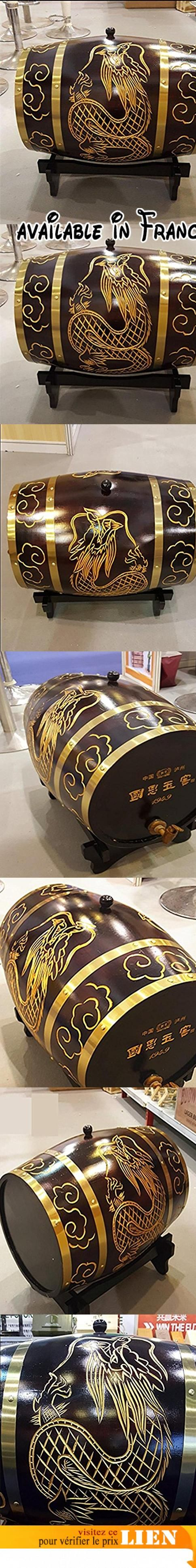 Fûts de chêne logo de gravure laser créatif Longfeng Chengxiang barils de chêne de luxe 1.5L, 3L, 5L, 10L, 20L, 30L, 50L, 100L , 1.5l. Le matériau du baril est en chêne, la surface est lisse et plate, il y a peu d'espace entre le conseil et le conseil, très fort. Le robinet est en bois, appuyez sur le robinet d'eau du robinet, peut remplir le vin. Cerceau professionnel sur mesure, anti-oxydation, résistant à la corrosion. Peut être chargé avec du vin rouge, du