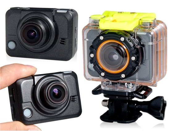 5.0mp HD 1080p casco aéreo impermeable cámara con Control remoto de correa de muñeca Wi-Fi, grabador de vídeo HD