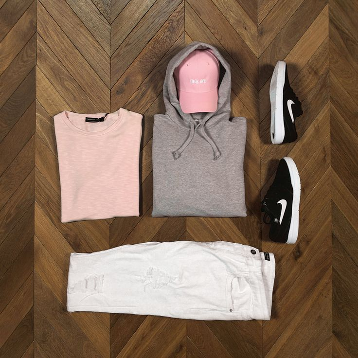 pink x grey // Retrouvez plus de looks sur http://realnswag.fr #look #outfit #menswear #style #urban #streetwear #urbanstyle #dope #lille #france #sneakers #fashionaddict