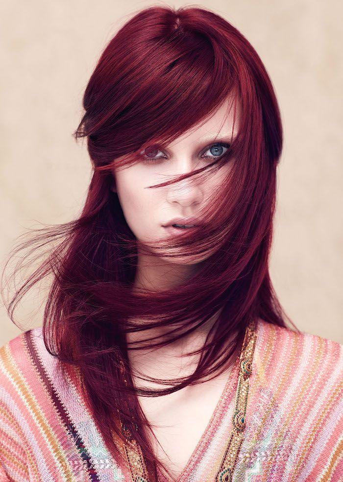 Connu Les 25 meilleures idées de la catégorie Cheveux bordeaux foncé sur  HB99