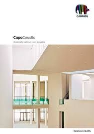 Συστήματα χρωματισμού που στοχεύουν στη βέλτιστη ακουστική του χώρου.. Προτείνει η Caparol!! http://en.caparol.de/fileadmin/data/pdf/English/Acoustic/CAP120459_BRO_CapaCoustic_EXC_EN.pdf