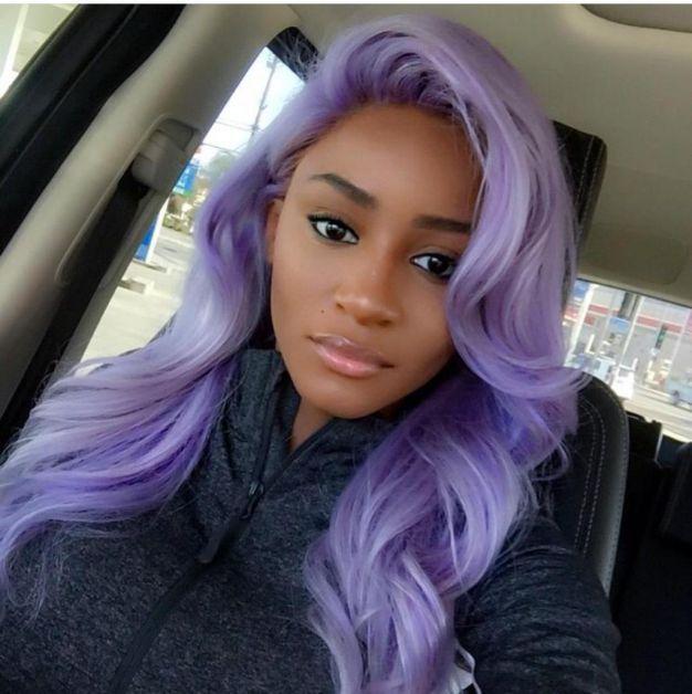 Cabelo roxo Colour cachos coloridos cabelos coloridos| - Hair | Afro | Negra | Estilo | tranças| crespo| cachos| black power | volume| curls| braids| style