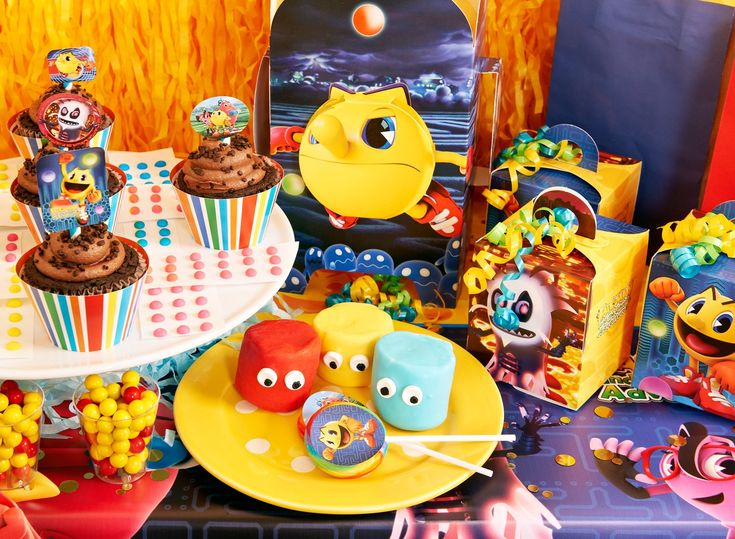 Pac-Man decorations, party supplies, snacks, and more! http://www.birthdayexpress.com/PAC-MAN-and-the-Ghostly-Adventures-Party-Packs/88975/PartyPack.aspx