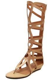 Charming Zipper Closure Summer Gladiator Sandals