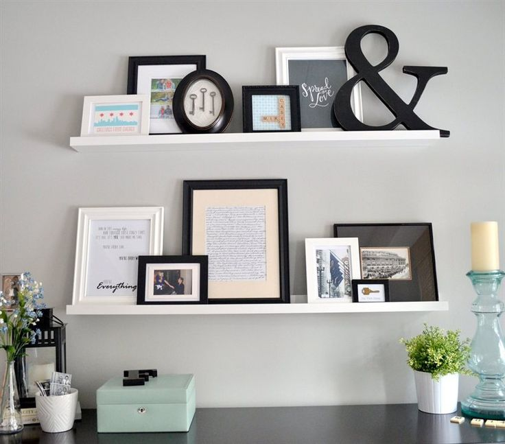 Mementos and photos | Shuffle frames around easily | RIBBA picture ledge | Casey's apartment in Chicago | live from IKEA FAMILY