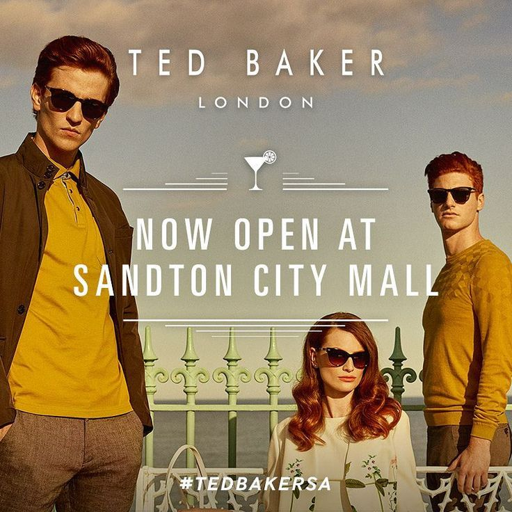 We know what you should be doing today. Visiting the new Ted Baker which is now open at Sandton City! #TedBakerSA