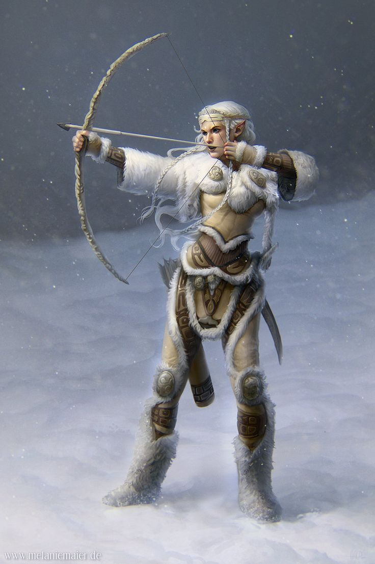 Arctic Elfin female elf barbarian fighter ranger winter snow leather fur armor clothes clothing fashion player character armor clothes clothing fashion player character npc | Create your own roleplaying game material w/ RPG Bard: www.rpgbard.com | Writing inspiration for Dungeons and Dragons DND D&D Pathfinder PFRPG Warhammer 40k Star Wars Shadowrun Call of Cthulhu Lord of the Rings LoTR + d20 fantasy science fiction scifi horror design | Not Trusty Sword art: click artwork for source