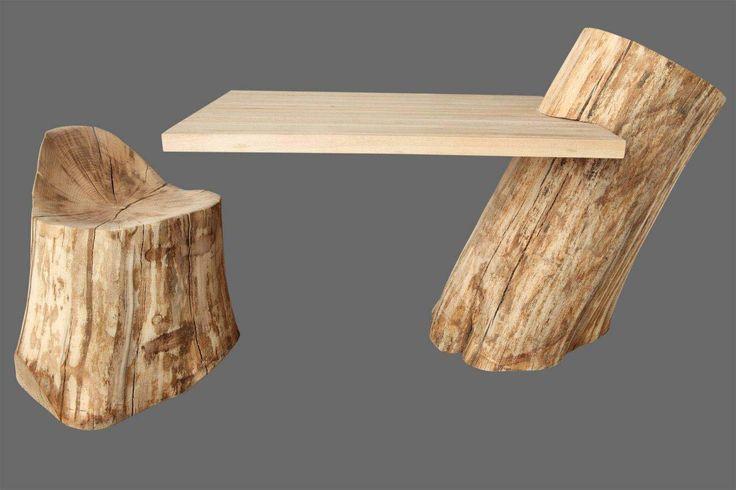 Unikatowe meble z drewna, zestaw PNIAKI. Autor:Patryk Wojda.