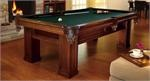 Brunswick 4 x 8 oakland pool table for the contempory look of today but still has the feel of the old tables with the leather pocket