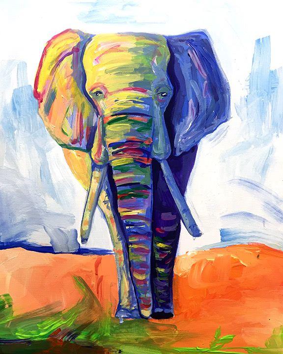 Artmasters Majestic Elephant Acryl Leinwand Malen
