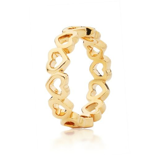 Hearts Stackable Ring Gold Plated