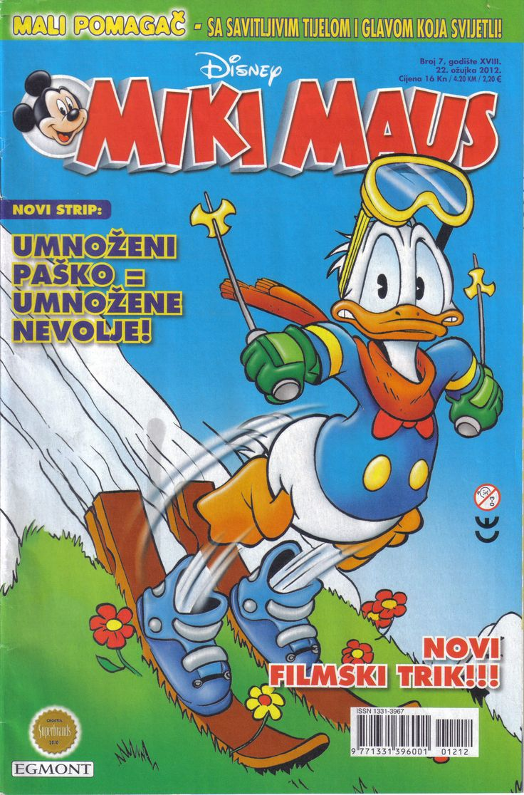 Croatia - Miki Maus (Croatian) Scanned image of comic book (© Disney) cover