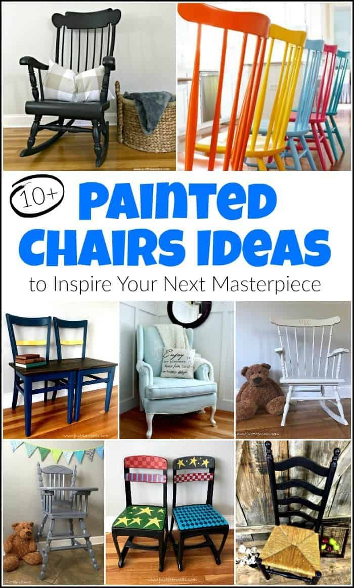 10 Painted Chairs Ideas To Inspire Your Next Masterpiece Painted Chairs Diy Painted Wooden Chairs Painted Chairs