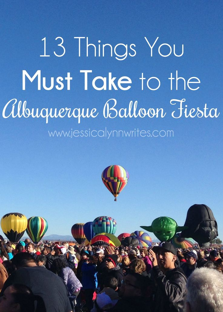 If you're going to the Albuquerque Balloon Fiesta, I've got you covered with what to take into the park. Here are 13 must-take items to help your adventure!