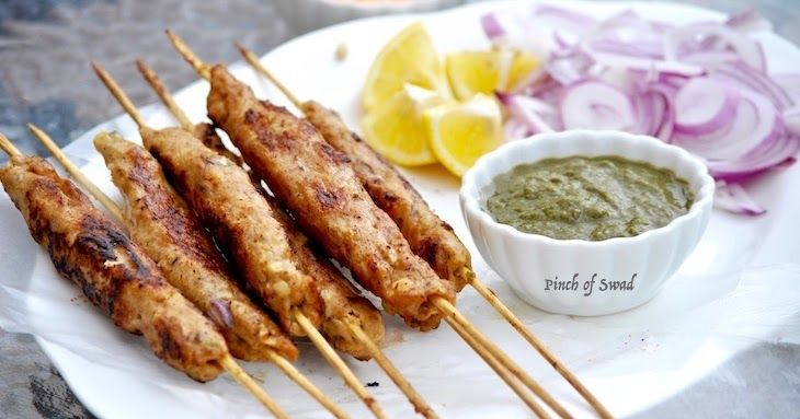 Seekh Kebabs (Chicken) Summer season calls for staying outdoors longer enjoying the sun and long days as we have hibernated enoug...