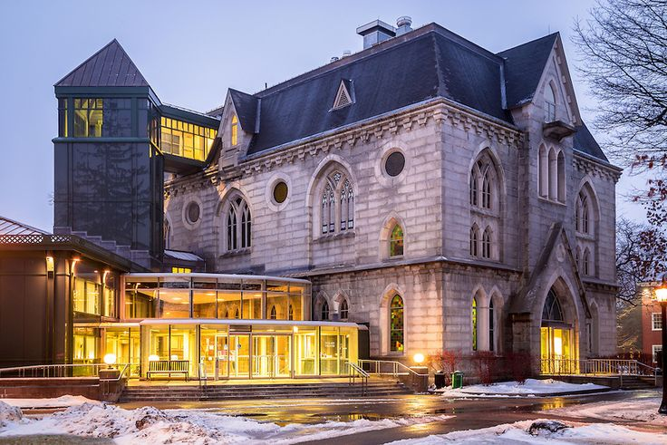Bowdoin College in Winter | The home of Maine State Music Theater, Pickard Theater is a modern ...