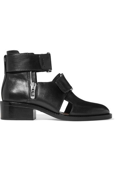 3.1 Phillip Lim - Addis Buckled Leather Ankle Boots - Black - IT