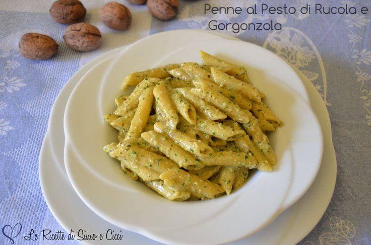 Penne al Pesto di Rucola e Gorgonzola