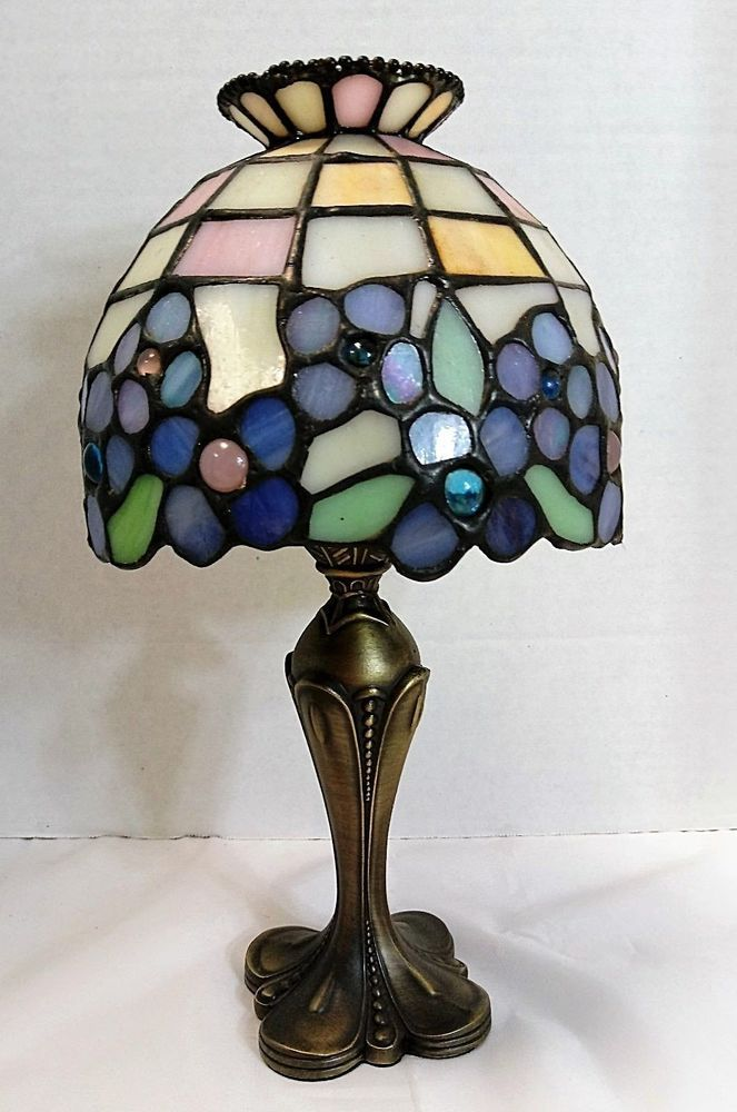 Partylite Stain Glass Tea Light Candle Holder Lamp Retired