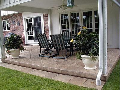 concrete backyard stamped concrete patios backyard patio outdoor