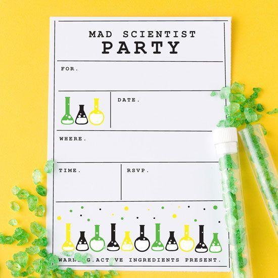 Das Ist Eine Perfekte Idee Für Eine Einladung Zur Forscherparty Am  Kindergeburtstag. Vielen Dank Für