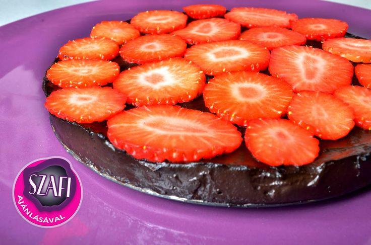 Nyers csokoládé torta gyümölcslapból (vegán, paleo) ~ Éhezésmentes Karcsúság Szafival
