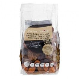 A sumptuous mix of cinnamon dusted chocolate coated almonds with crunchy nuts & sweet dried fruit. Call in to your local store to see our full range of Christmas goodies!