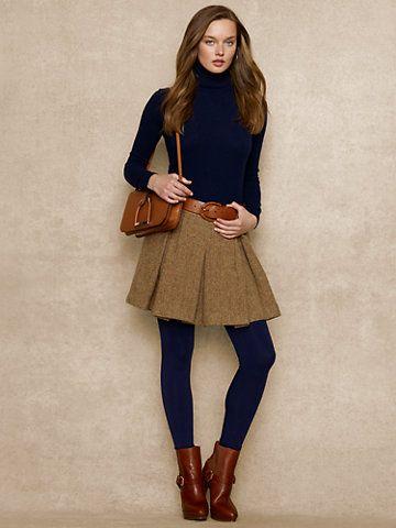 Wool & Alpaca Tweed Skirt - Short Skirts  Skirts - RalphLauren.com