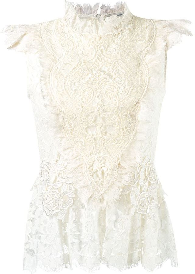 Martha Medeiros ruffled lace blouse