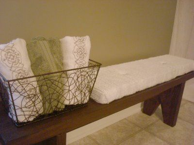 DIY Bathroom Bench Would Also Be A Great Idea So Things Donu0027t End Up Part 29