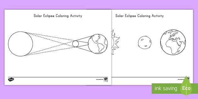 Solar Eclipse Coloring Pages Solar Eclipse Coloring Pages