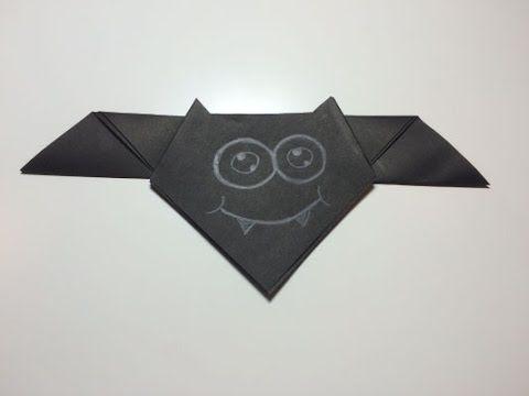 Vleermuis vouwen van papier (origami) - makkelijk om te knutselen met kinderen - YouTube