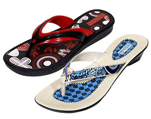 Krocs Super Comfortable Flip flop For Women Pack of 2 Pairs * You can get additional details at the image link.