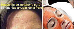 Mascarilla de zanahoria para eliminar las arrugas de la frente