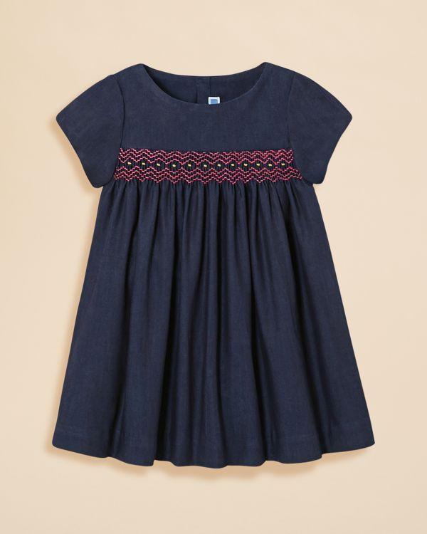 Jacadi Infant Girls' Denim Dress - Sizes 6-18 Months