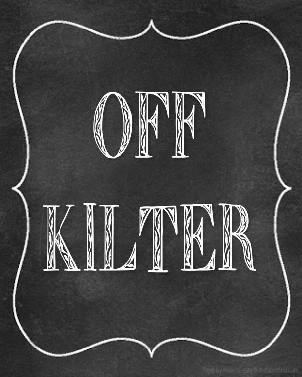 I'm a little Off Kilter.....say it all the time! out of / off kilter   ~  The definition of out of / off kilter is :  someone or something that is not quite right or that is a little off.