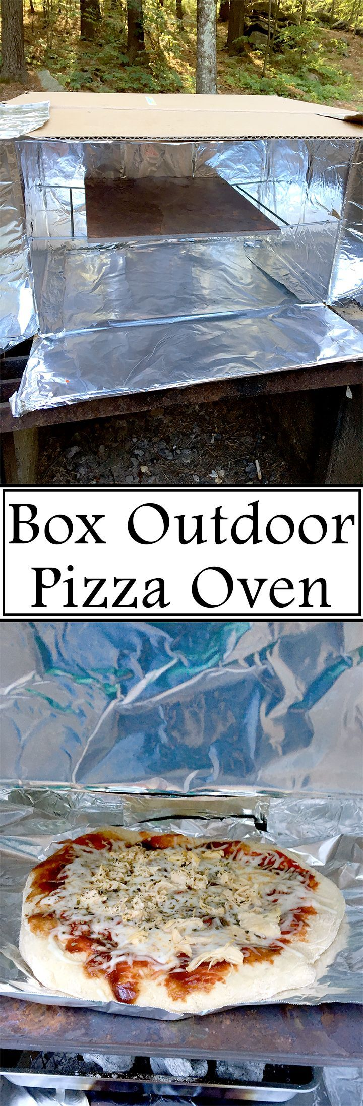 Try something new this summer and make your own box oven to cook a pizza outside!