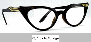 Fete Jeweled Cat Eye Glasses - 539 Black or Tortoise