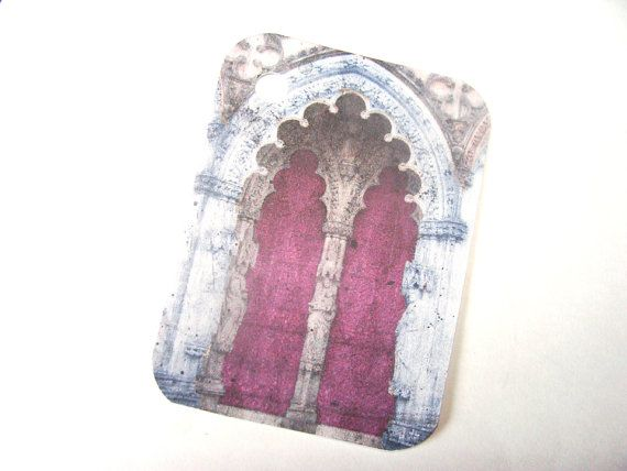 Gothic Doors Gift Tags   Set of 6   Painted Door Tags by SiriusFun