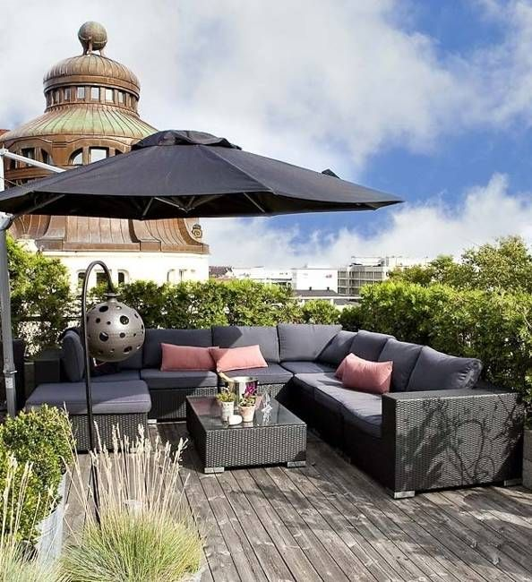 outdoor furniture for decorating terraces and balconies, outdoor home decor ideas