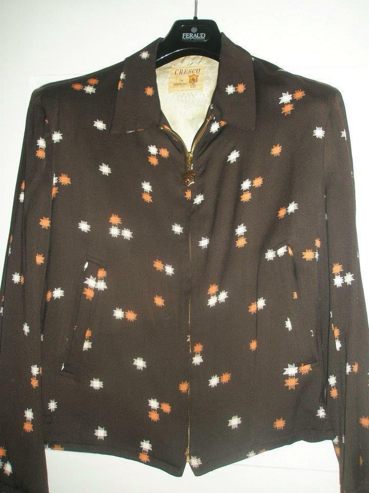 50s gabardine jacket - label Cresco