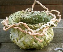 flax basket - lots of tutorials
