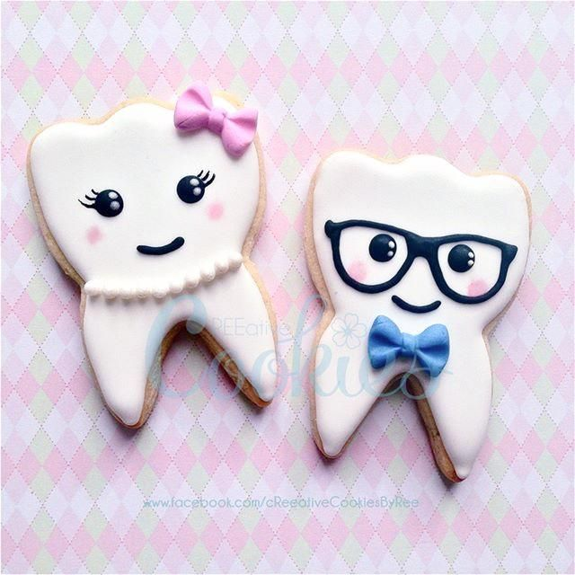 Kawaii Teeth Cookies | Cookie Connection