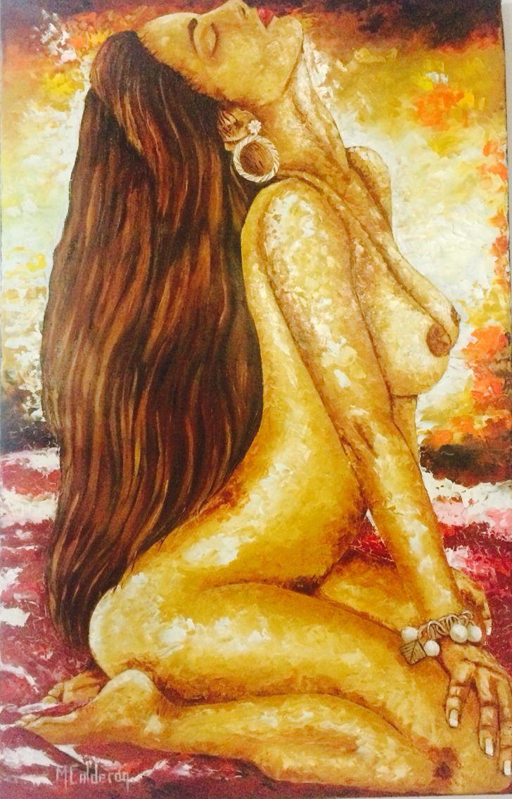 Desnudo#cuadro al oleo#espatula#por Mariluz Calderon