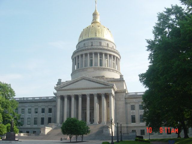 The West Virginia State Capitol in Charleston