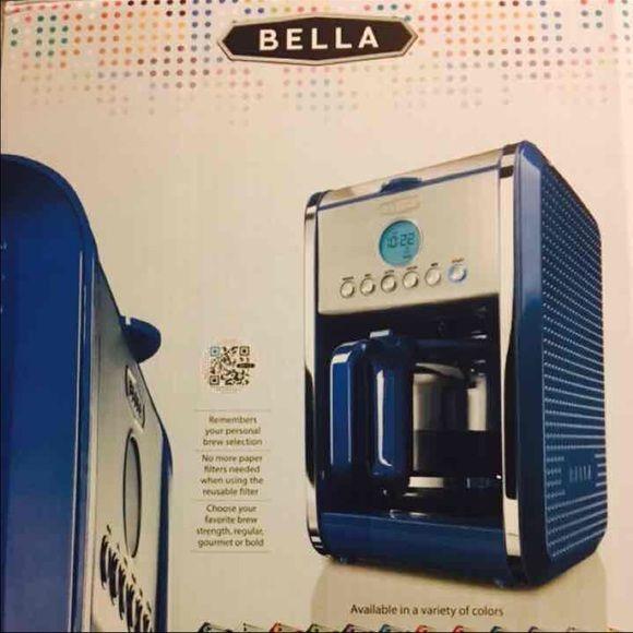 Bella Coffee Maker Auto Shut Off : 12 cup programmable coffee maker Brand new Bella 12 cup coffee maker. COLOR: BLUE non stick ...