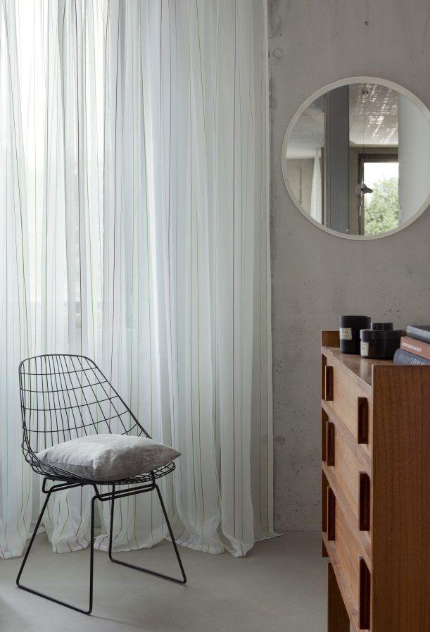 FILAFIL de Rasch Textil | Visillos de rayas multicolor. Cortinetes a ratlles multicolor.