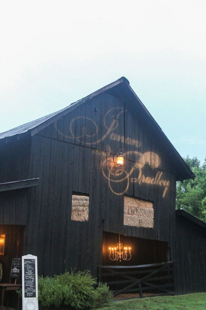 Personalize The Barn With Your Names Or New Monogram In Lights Cedarwoodweddings Tennessee Destination
