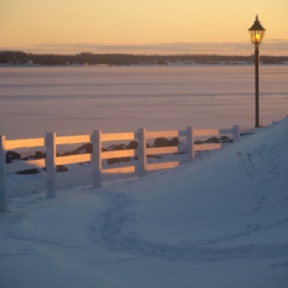 A winter sunset over Charlottetown Harbour